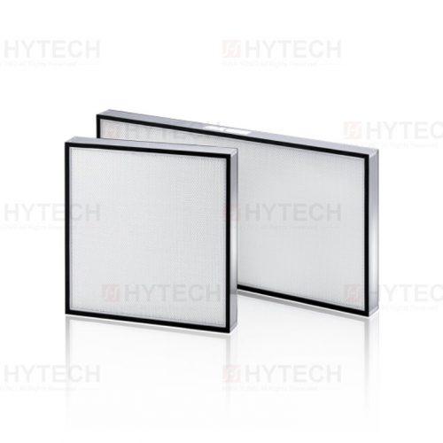 高效率過濾網HEPA,鋁製陽級處理外框及保護網,迷你摺式濾材,高效率補集 PAO 99.99%、99.995% at 0.3µm。