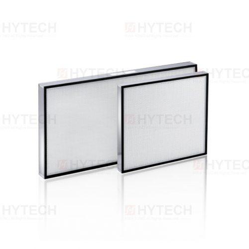 超高效率過濾網ULPA,鋁製陽級處理外框及保護網,迷你摺式濾材,超高效率補集 PAO 99.9995%、99.99995% at 0.12µm。